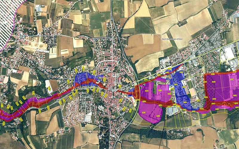 carte des risques à Saint-Symphorien-d'Ozon