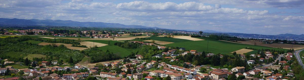 Vue panoramique depuis Saint-Symphorien-d'Ozon